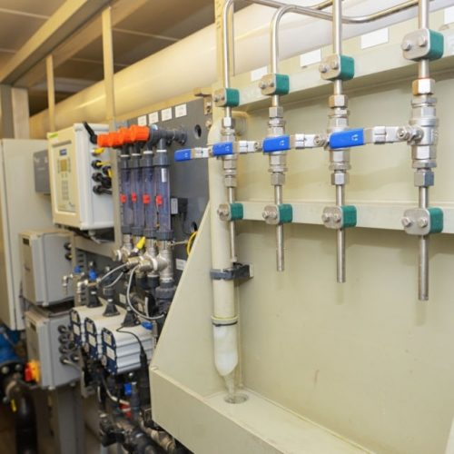 Demineralized water treatment inside of  plant